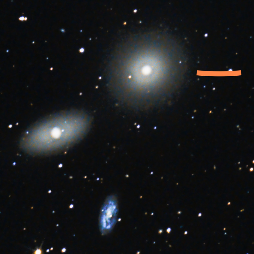 Messier 106 et 2 Galaxies NGC