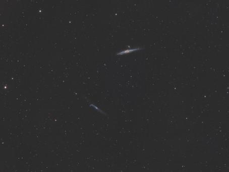 The Whale and Hockey Stick Galaxies - Astrophotography