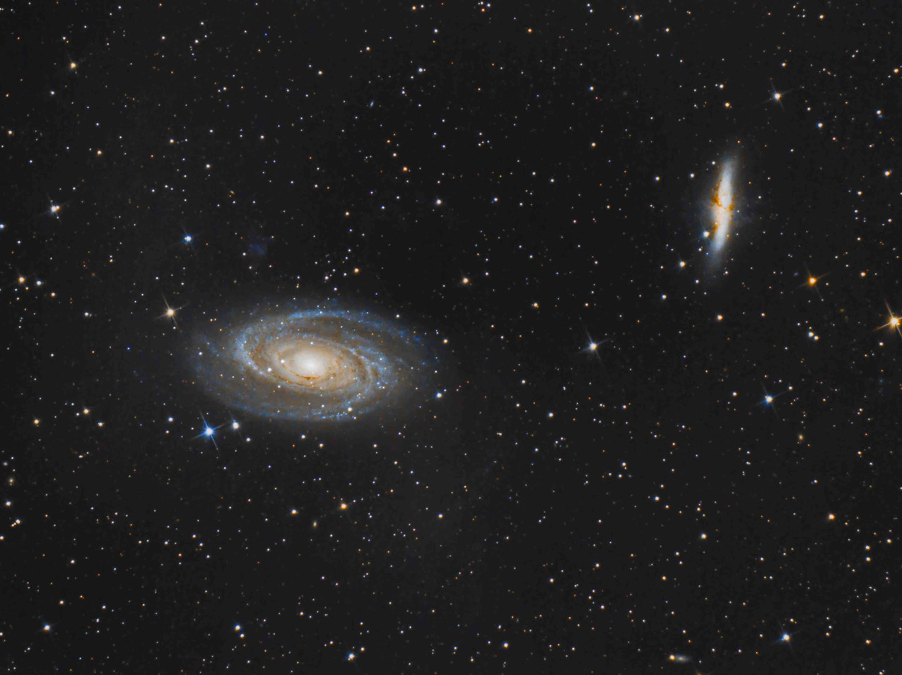 M81 and M82 with a telescope and DSLR camera