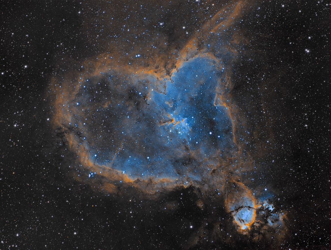The Heart Nebula with the Meade 70mm APO and ASI 1600MM