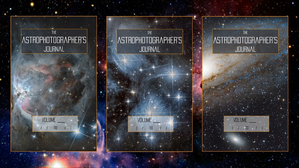 The Astrophotographer's Journal different covers