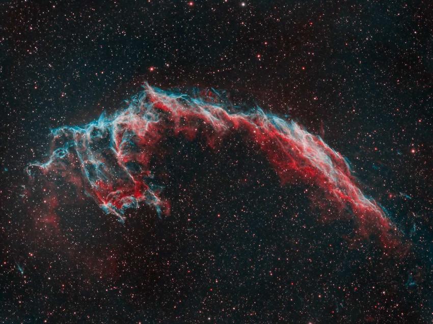 The Eastern Veil Nebula narrowband combination