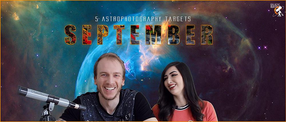 Best Astrophotography Targets for  September