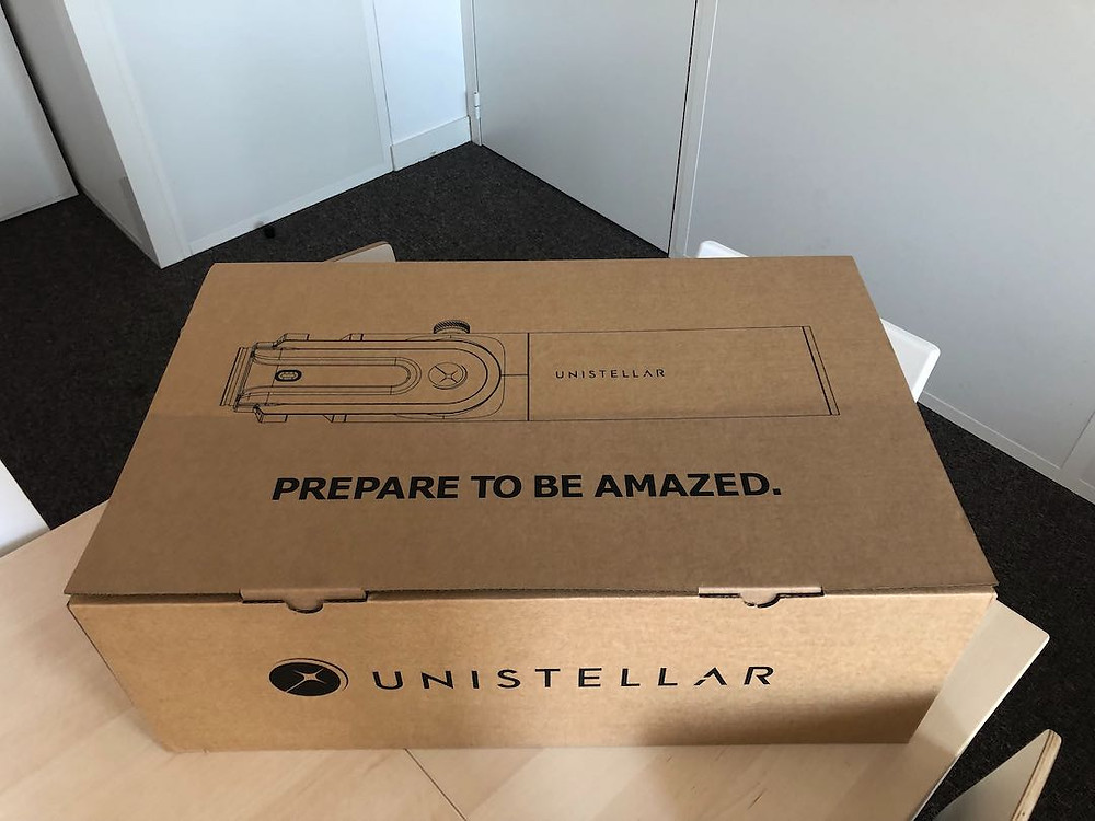Unistellar EVscope shipping box