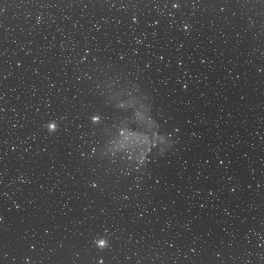 The Wizard Nebula, NGC 7380, 26 minutes of Oiii with the ZWO ASI 1600MM Astrophotography camera