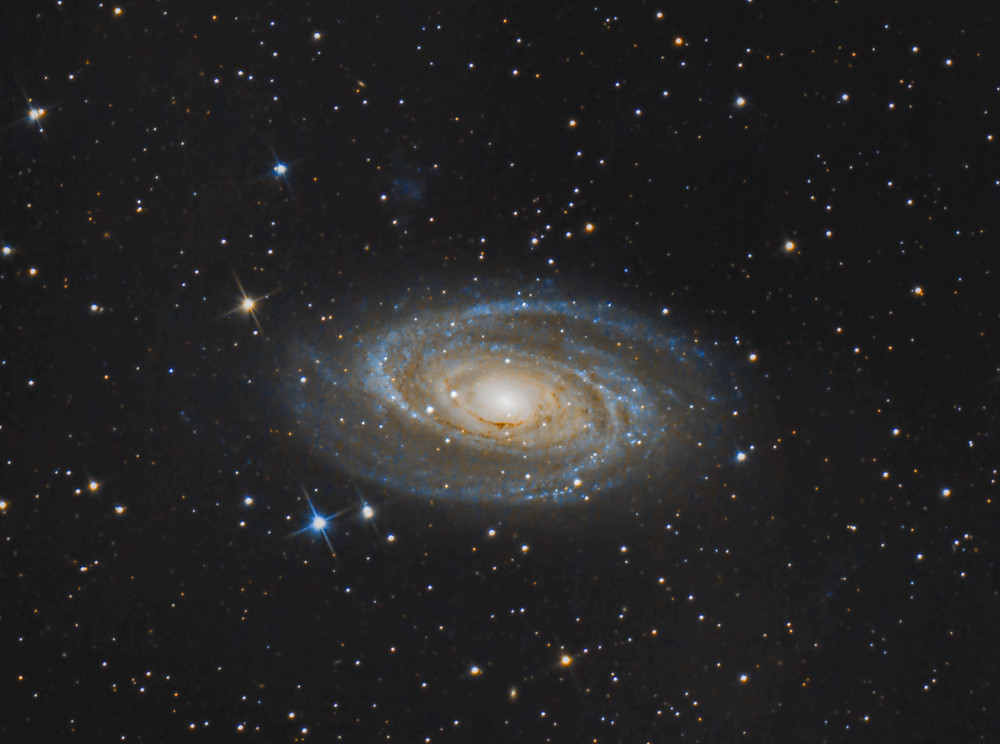 """Messier 81 Bode's Galaxy using a DSLR Canon camera, Astrophotography with an Orion 8"""" Astrograph telescope"""