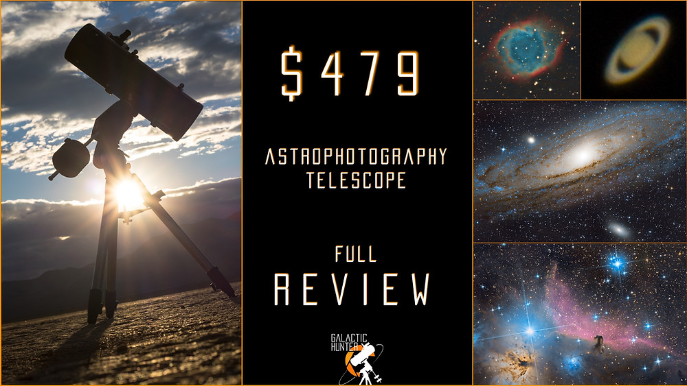 """Review of our $479 Astrophotography Telescope - Orion 8"""" Astrograph f/3.9"""