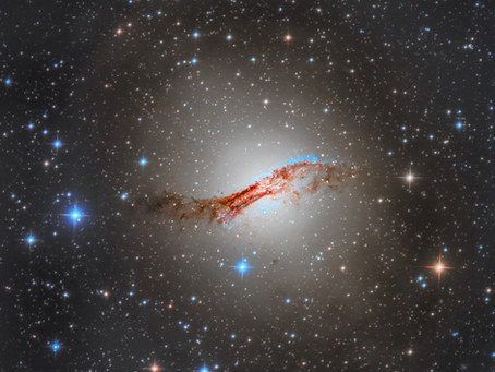 NGC 5128 - Processing Centaurus A, our first southern sky object from an observatory in chile