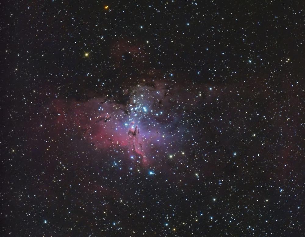 M16 The Eagle Nebula DSLR Astrophotography Canon t3i Orion Telescopes