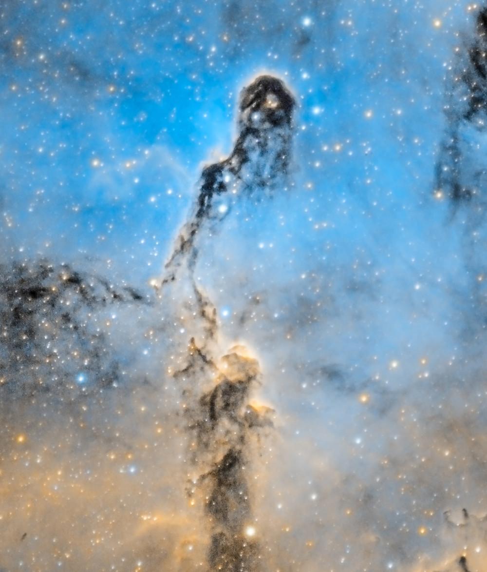 The Elephant's Trunk Nebula narrowband small telescope
