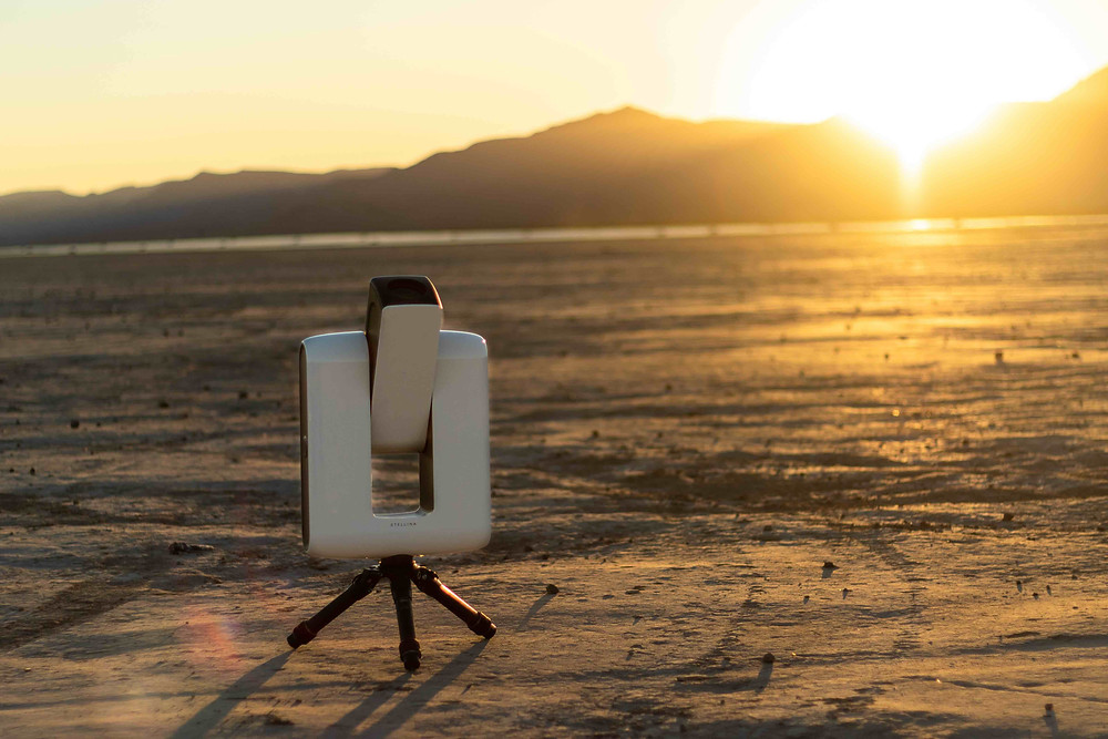 Stellina open in the Nevada desert dry lake during sunset. telescope for astrophotography full review by galactic hunter