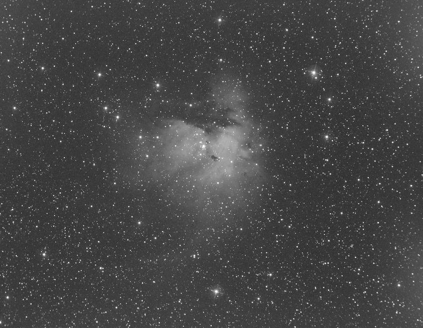 The Pacman Nebula in Oxygen III single shot
