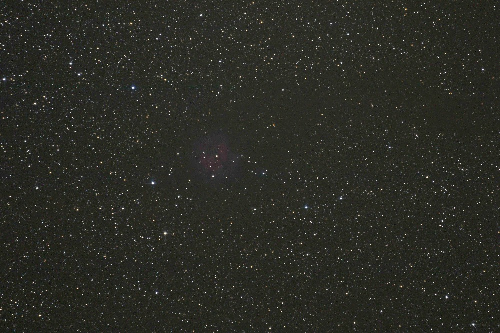 The Cocoon Nebula Single Shot DSLR