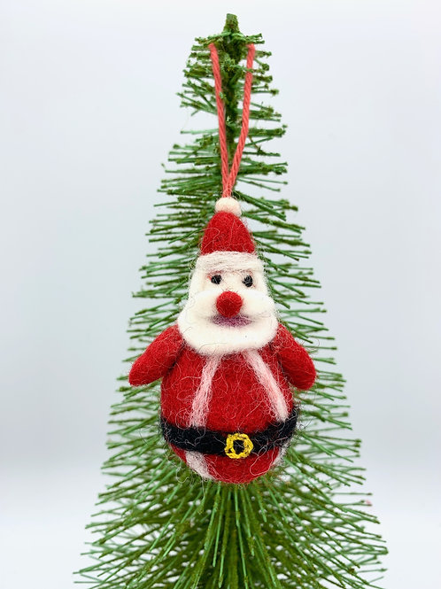 Mini Hanging Felt Father Christmas