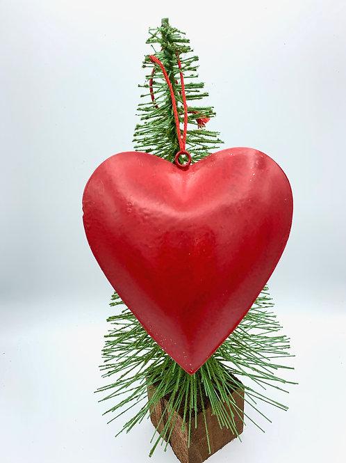 Large Hanging Metal Hearts