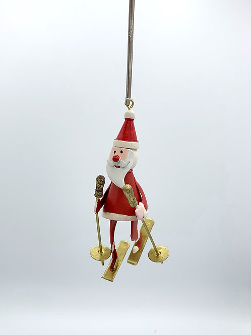 Metal Santa on a Spring Hanger