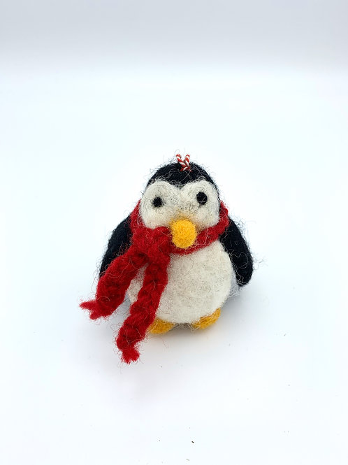 Black Penguin with Scarf