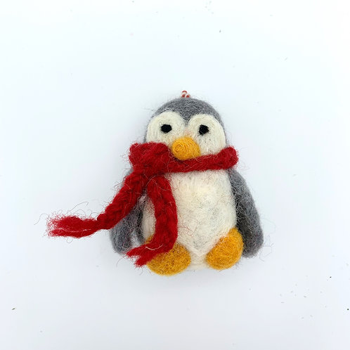Grey Penguin with Scarf