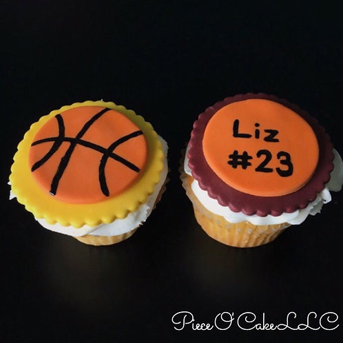 Basketball Cupcake Toppers (12 count)