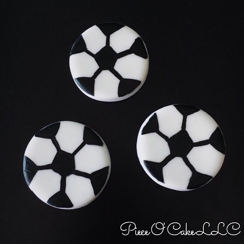 Soccer Ball Cupcake Toppers (12 count)