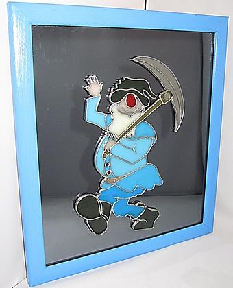 Hand crafted Decorative Mirror - Dwarf Miner