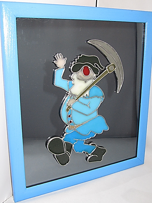 Hand crafted Decorative Mirror - Dwarf Miner