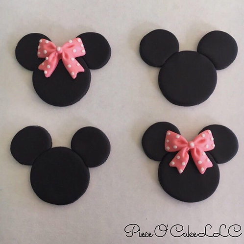 Mouse Cupcake Toppers (12 count)