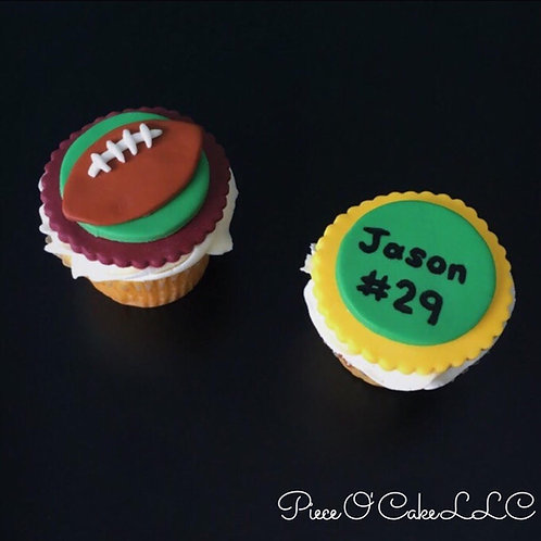 Football Cupcake Toppers (12 count)