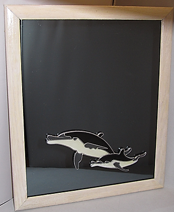 Decorative Mirror - Dolphin & Baby