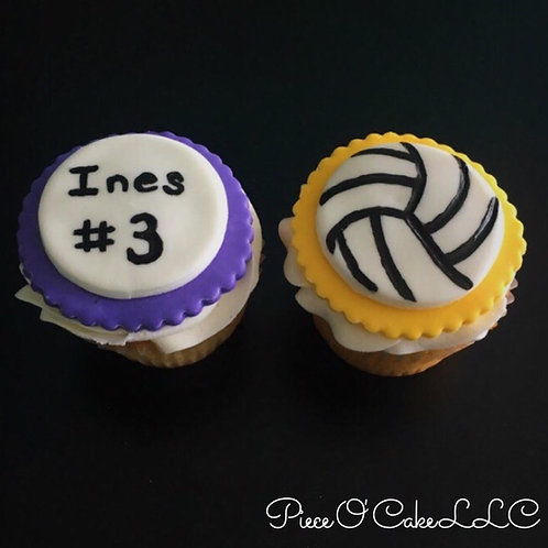 Volleyball Cupcake Toppers (12 count)