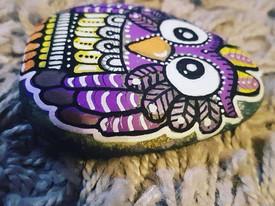 owl stone art