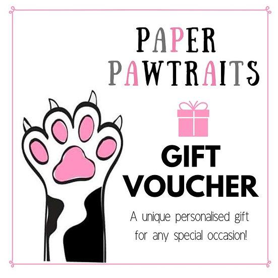 Paper Pawtrait Gift Voucher