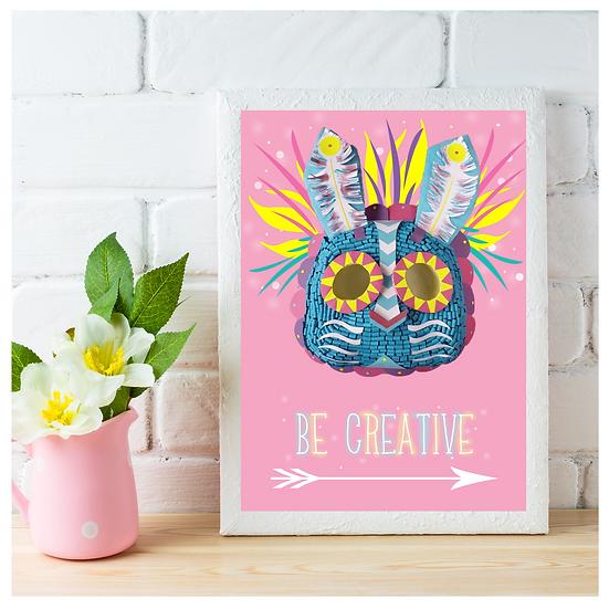 Be Creative - Totem Rabbit Spirit Wall Art