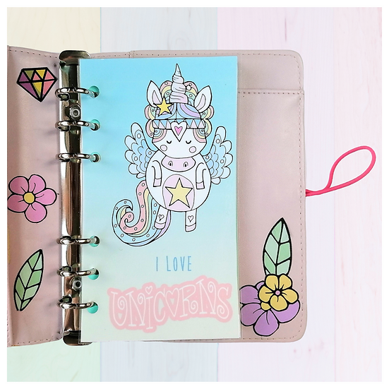 Unicorn Planner Dashboard For A5, A6, B6, Personal and Pocket Size Planner