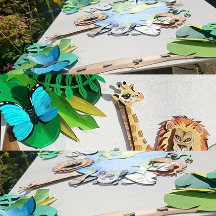 My handmade 3d paper illudtration all an