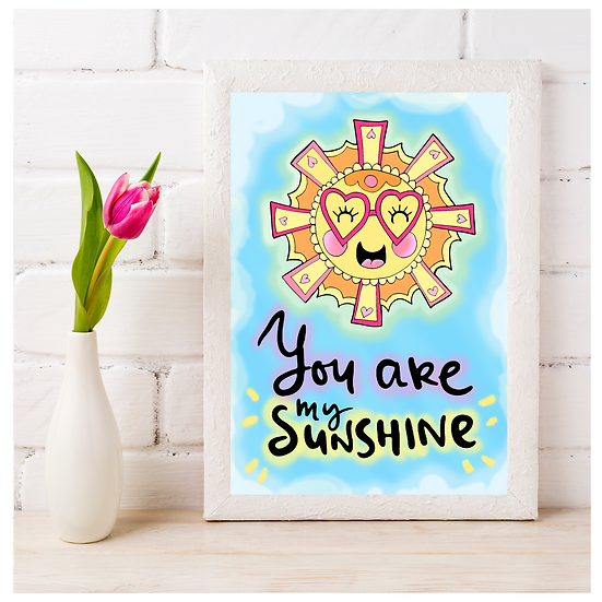 Your Are My Sunshine Cute Wall Art