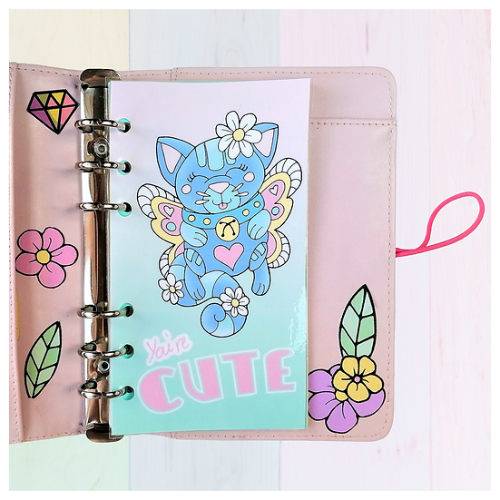 Cat Planner Dashboard For A5, A6, B6, Personal and Pocket Size Plann
