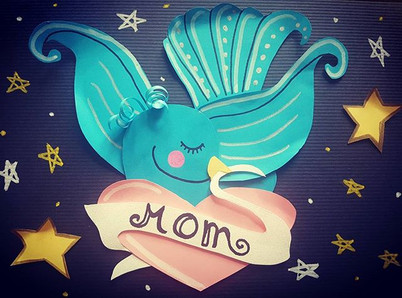 Tatto in to a mothers day card.jpg