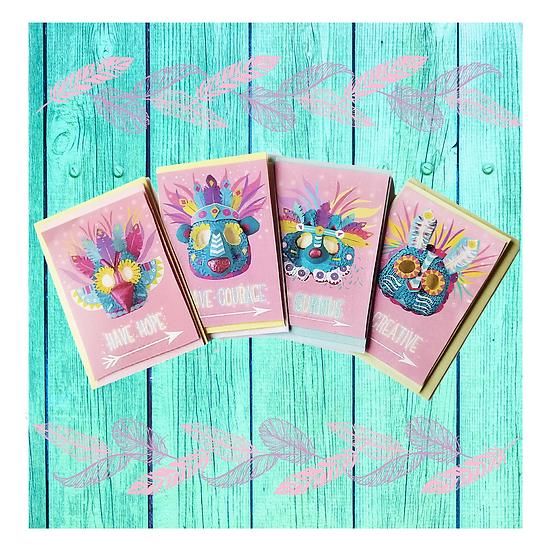 Pack Of Eight Inspiring Totem Spirit Cards