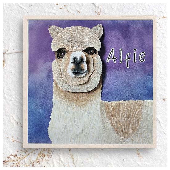 Alpaca Or Llama Pet Portrait