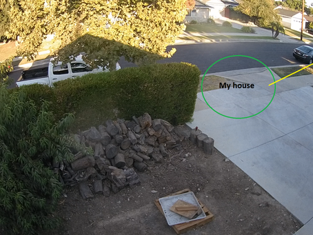 Security camera picked UPS miss-delivery of expensive package.