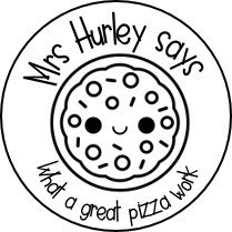 Colour Me In! Personalised Pizza Stickers