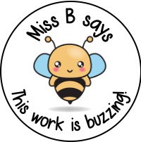 Personalised Kawaii Bee Stickers