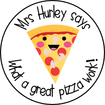 Personalised Pizza Stickers