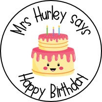 Personalised Birthday Stickers