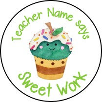 Personalised Watercolour Sweets Stickers