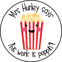 Personalised Popcorn Stickers