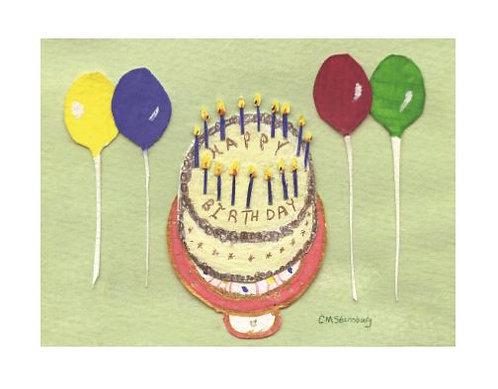 Green Birthday Cake