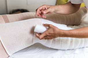 bandages legs and manual lymphatic drain