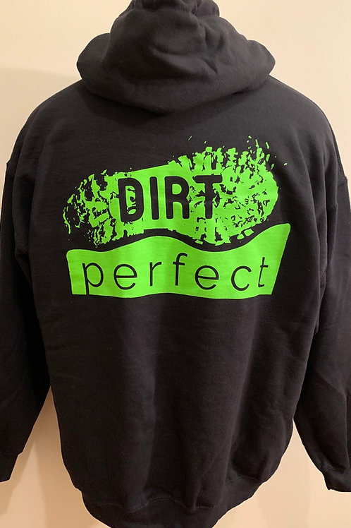 Black and Lime Green Dirt Perfect Hoodie